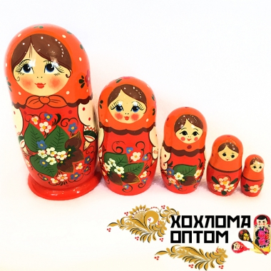 "Matryoshka ""Nut branch"" (5 dolls)"