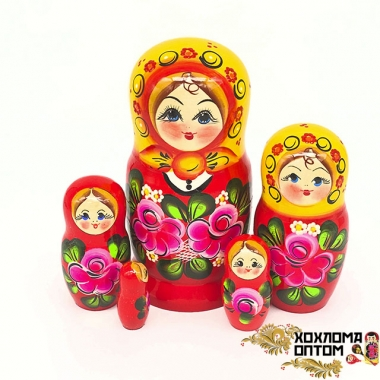 """Матрешка """"Вознесенка"""" 5 кукольная средняя"""