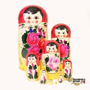Матрешка традиционная 9 кукольная