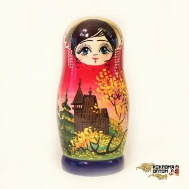 """Матрешка """"Храм"""" 5 кукольная"""