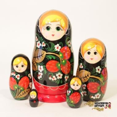 """Матрешка """"Хохлома Вятка"""" 5 кукольная"""