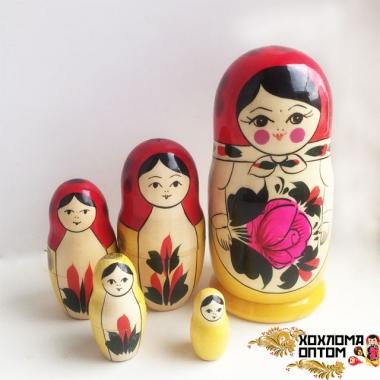 Матрешка традиционная 5 кукольная средняя