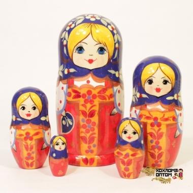 "Матрешка ""Красный сарафан"" 5 кукольная"