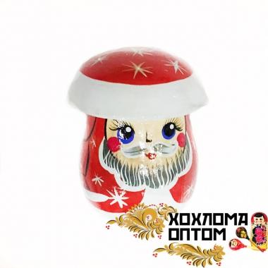 """Солонка с росписью """"Гриб Дед Мороз"""" новогодняя"""
