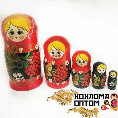 "Матрешка ""Рябина"" 5 кукольная"