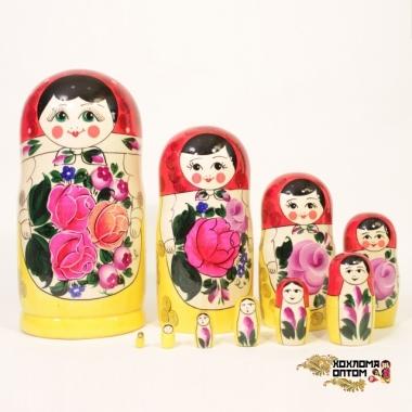Матрешка традиционная 10 кукольная