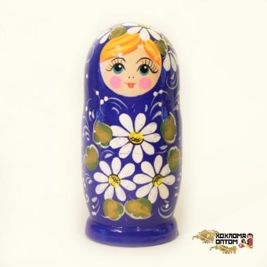 """Матрешка """"Ромашка синяя"""" 5 кукольная"""