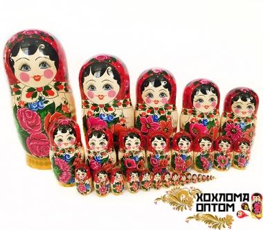 Матрешка традиционная 30 кукольная