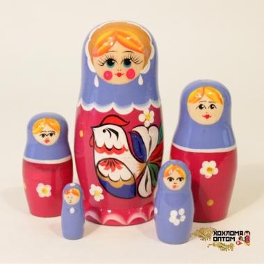 "Матрешка ""Петушок"" 5 кукольная"