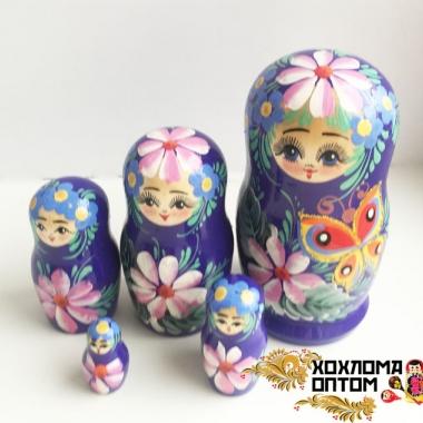 """Матрешка """"Бабочка"""" 5 кукольная"""