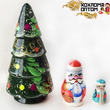 """Матрешка новогодняя """"Ёлочка"""" 3 кукольная"""