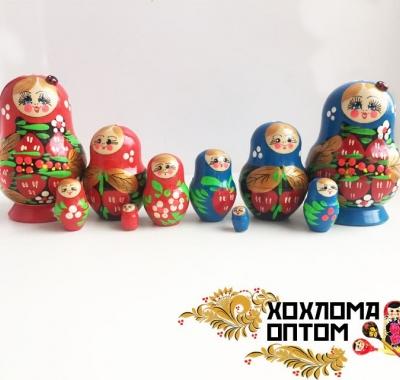 """Матрешка """"Клубничка малая"""" 5 кукольная"""