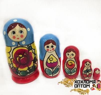 """Матрешка """"Майдан традиция"""" 5 кукольная"""