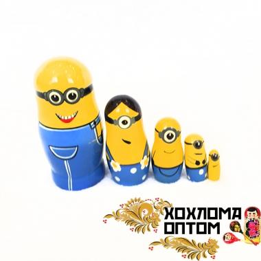 """Матрешка """"Миньоны малые"""" 5 кукольная"""