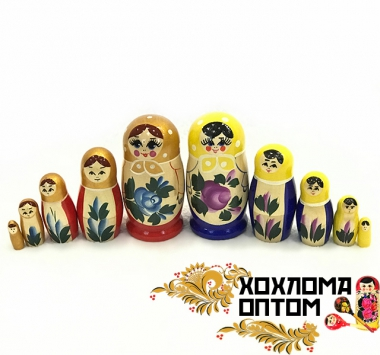 "Матрешка 5 кукольная малая ""Семёновская гуашь"""